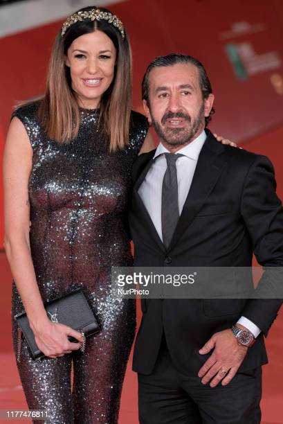 Alessia Fabiani and Carlo Tessier attend quotThe Irishmanquot red carpet during the 14th Rome Film Festival on October 21 2019 in Rome Italy