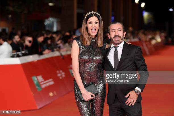 Alessia Fabiani and Carlo Tessier attend The Irishman red carpet during the 14th Rome Film Festival on October 21 2019 in Rome Italy