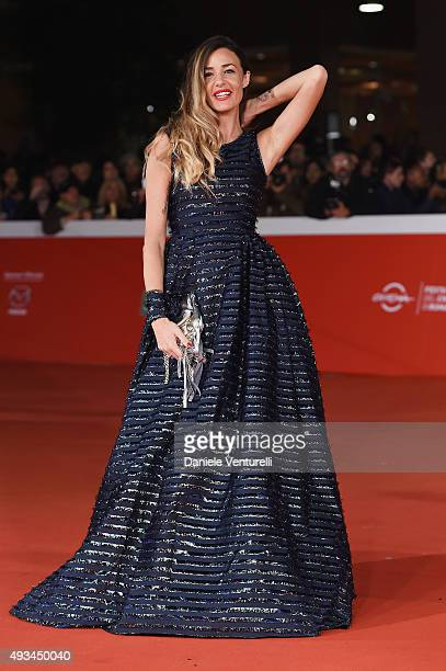 Alessia Fabiani attends a red carpet for 'VilleMarie' during the 10th Rome Film Fest on October 20 2015 in Rome Italy