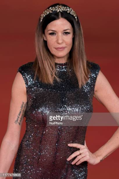 Alessia Fabiani attends quotThe Irishmanquot red carpet during the 14th Rome Film Festival on October 21 2019 in Rome Italy