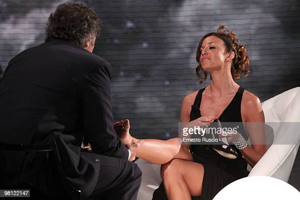 Alessia Fabiani attends the 'Barbareschi Sciock' Italian TV Show at La7 Studios on March 26 2010 in Rome Italy