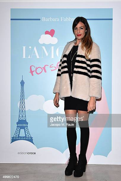Alessia Fabiani attends the book presentation of 'L'AMORE FORSE' by Barbara Fabbroni on December 3 2015 at the Maryling Concept Store in Milan Italy