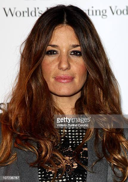 Alessia Fabiani attends the Grey Goose Christmas Boutique Opening on December 1 2010 in Milan Italy