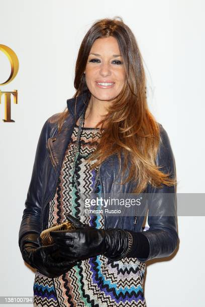 Alessia Fabiani attends the 'Hugo Cabret' premiere at Embassy Cinema on February 2 2012 in Rome Italy
