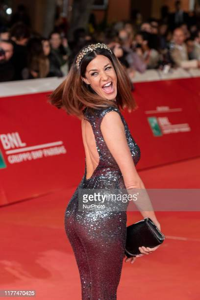 Alessia Fabiani attends ''The Irishman'' red carpet during the 14th Rome Film Festival on October 21 2019 in Rome Italy