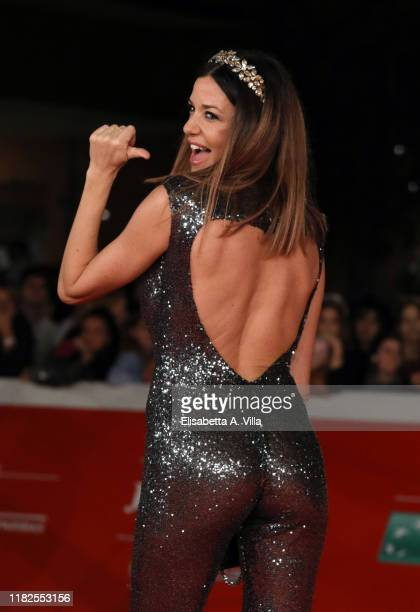 Alessia Fabiani attends The Irishman red carpet during the 14th Rome Film Festival on October 21 2019 in Rome Italy