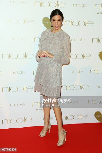 Alessia Fabiani attends the red carpet of the Nicole fashion show at Palazzo Dei Congressi on March 25 2017 in Rome Italy