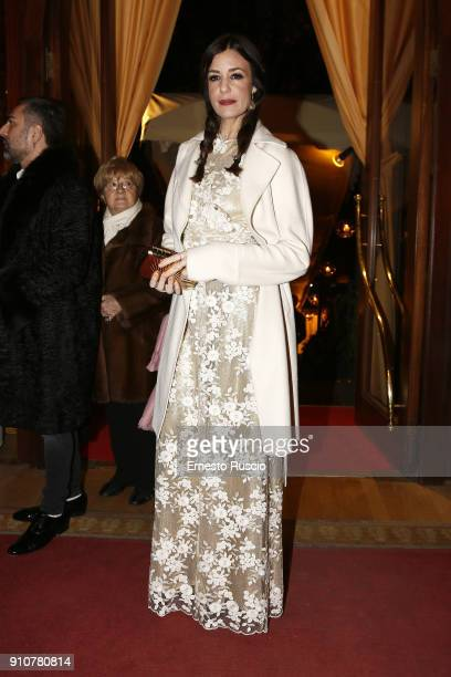 Alessia Fabiani attends the Renato Balestra show during Altaroma on January 26 2018 in Rome Italy