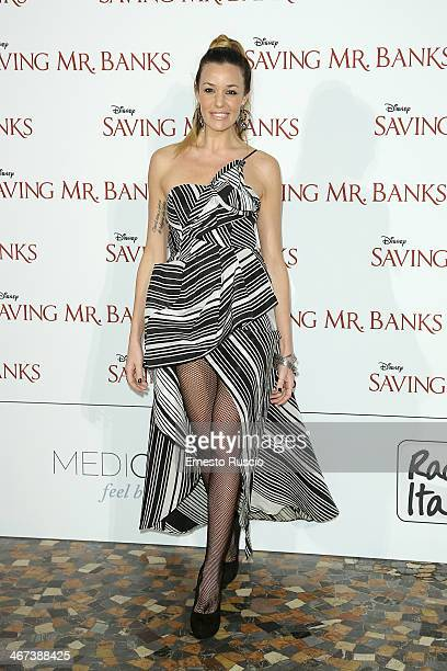 Alessia Fabiani attends the 'Saving Mr Banks' premiere at The Space Moderno on February 6 2014 in Rome Italy