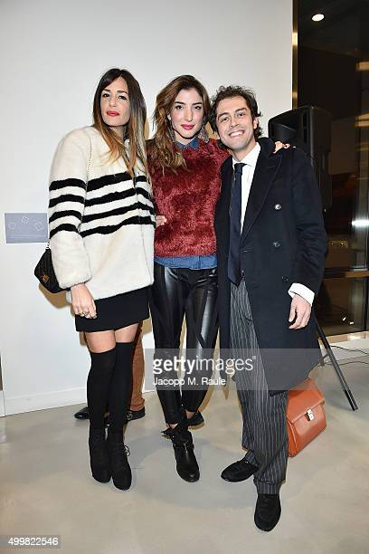 Alessia Fabiani Margherita Zanatta and Raffaello Tonon attend the book presentation of 'L'AMORE FORSE' by Barbara Fabbroni on December 3 2015 at the...