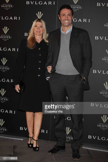 Alessia Latino and Marco Falaguasta attend a celebration of The International Rome Film Festival hosted by Bulgari and The Grand Hotel Via Veneto on...