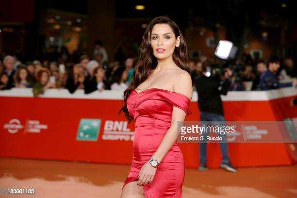 """Alessia Macari attends the red carpet of the movie """"Tornare"""" during the 14th Rome Film Festival on October 26, 2019 in Rome, Italy."""