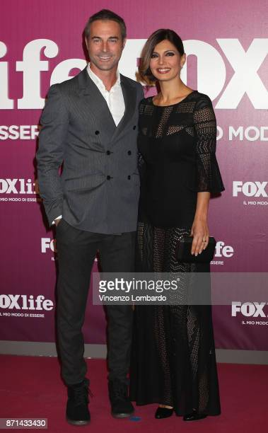 Alessia Mancini and Flavio Montrucchio attend Foxlife Official Night Out on November 7 2017 in Milan Italy