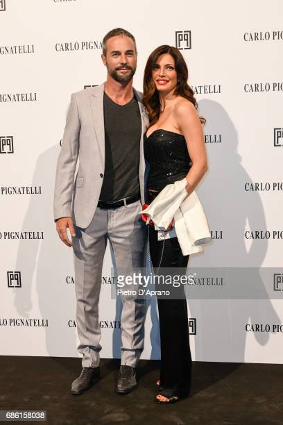Alessia Mancini and Flavio Montrucchio attends the Carlo Pignatelli Haute Couture fashion show on May 20 2017 in Milan Italy
