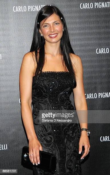 Alessia Mancini attends Carlo Pignatelli Cerimonia Fashion Show during Milan Fashion Week Menswear Spring/Summer 2010 on June 19 2009 in Milan Italy