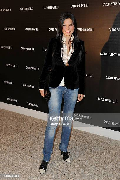 Alessia Mancini attends Carlo Pignatelli Outside during Milan Fashion Week Menswear A/W 2011 on January 15 2011 in Milan Italy