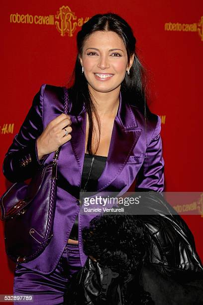 Alessia Mancini attends the Roberto Cavalli at HM collection launch party on October 25 2007 in Rome Italy
