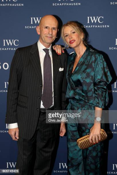 Alessia Marcuzzi and guest attend the IWC Schaffhausen Gala celebrating the Maison's 150th anniversary and the launch of its Jubilee Collection at...