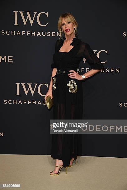 Alessia Marcuzzi arrives at IWC Schaffhausen at SIHH 2017 Decoding the Beauty of Time Gala Dinner on January 17 2017 in Geneva Switzerland