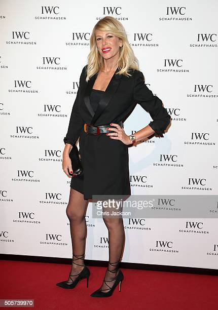 Alessia Marcuzzi attend the IWC Come Fly with us Gala Dinner during the launch of the Pilot's Watches Novelties from the Swiss luxury watch...