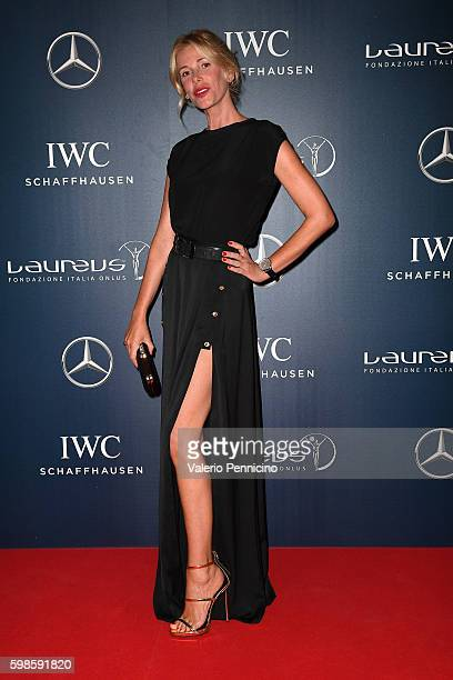 Alessia Marcuzzi attends during the Laureus F1 Charity Night at the MercedesBenz Spa on September 1 2016 in Milan Italy