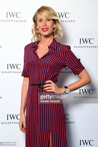 Alessia Marcuzzi attends IWC Boutique Opening Dinner on June 28 2016 in Milan Italy
