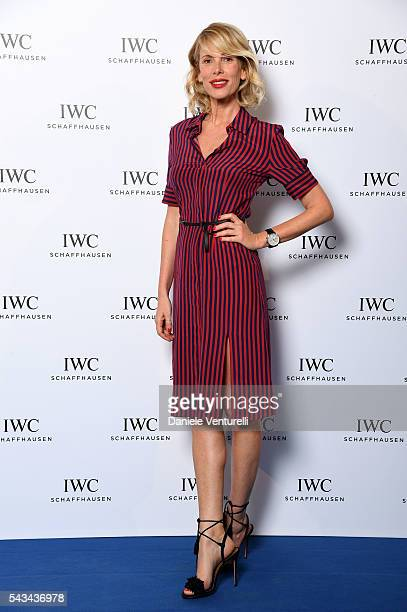Alessia Marcuzzi attends IWC Boutique Opening Dinner on June 28, 2016 in Milan, Italy.