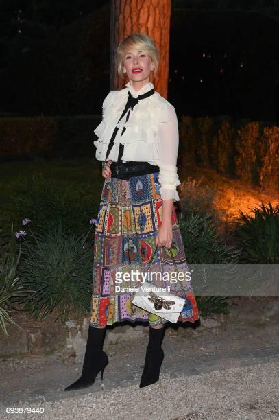 Alessia Marcuzzi attends McKim Medal Gala at Villa Aurelia on June 7 2017 in Rome Italy