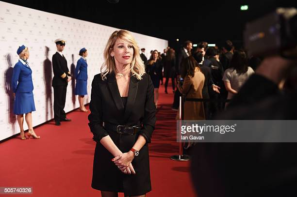 Alessia Marcuzzi attends the IWC Come Fly With Us Gala Dinner during the launch of the Pilot's Watches Novelties from the Swiss luxury watch...