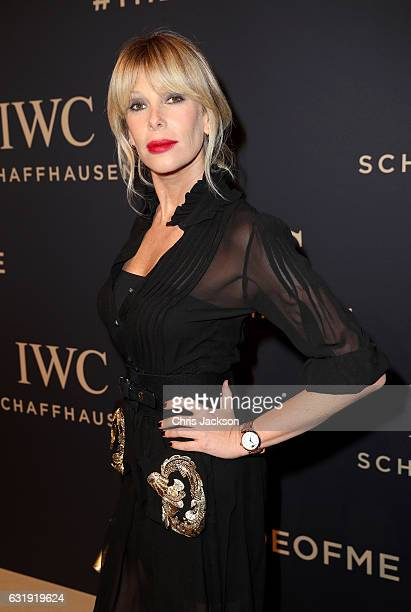Alessia Marcuzzi attends the IWC Schaffhausen Decoding the Beauty of Time Gala Dinner during the launch of the Da Vinci Novelties from the Swiss...