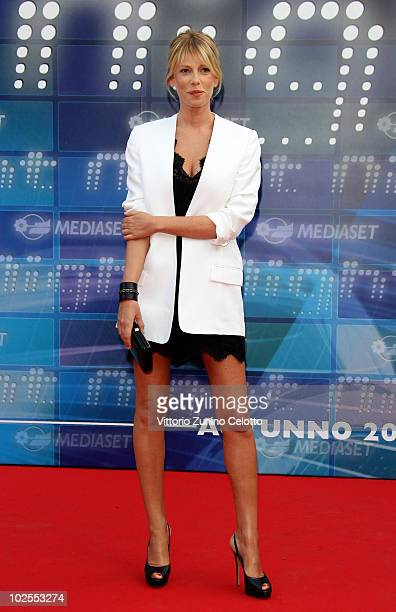 Alessia Marcuzzi attends the Mediaset Night TV Programming Presentation on June 30 2010 in Milan Italy