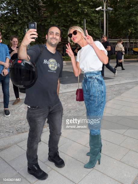 Alessia Marcuzzi is seen during Milan Fashion Week Spring/Summer 2019 on September 19 2018 in Milan Italy Photo by Arnold Jerocki/Getty Images