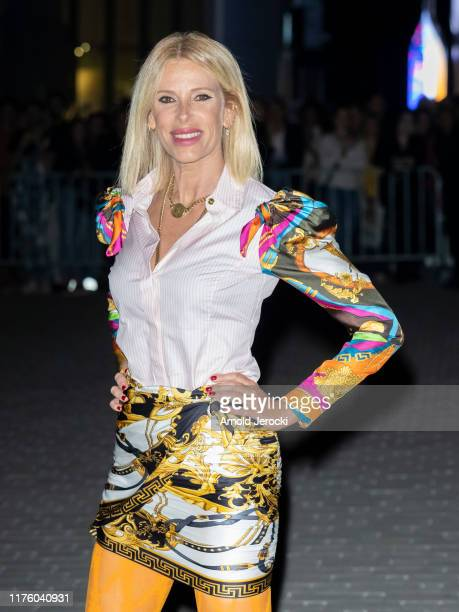 Alessia Marcuzzi is seen during the Milan Fashion Week Spring/Summer 2020 on September 20 2019 in Milan Italy