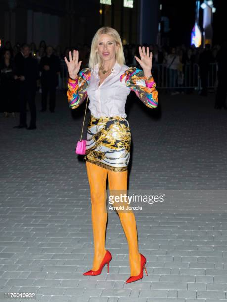 Alessia Marcuzzi is seen during the Milan Fashion Week Spring/Summer 2020 on September 20, 2019 in Milan, Italy.