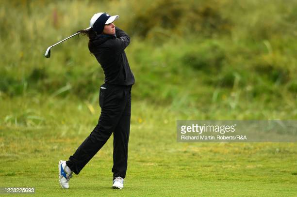 Alessia Nobilo of Italy hits an approach shot during Round 2 of Matchplay on Day Three of The Women's Amateur Championship at The West Lancashire...
