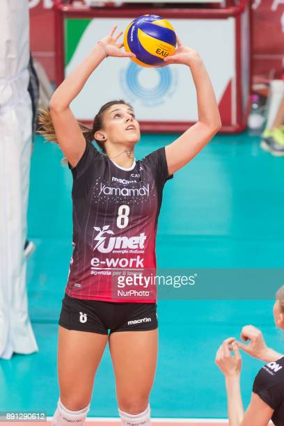 Alessia Orro during the Women's CEV Cup match between Yamamay ework Busto Arsizio and ZOK BimalJedinstvo Brcko at PalaYamamay in Busto Arsizio Italy...