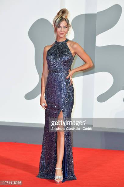 """Alessia Pasqualon walks the red carpet ahead of the movie """"Di Yi Lu Xiang"""" at the 77th Venice Film Festival on September 08, 2020 in Venice, Italy."""