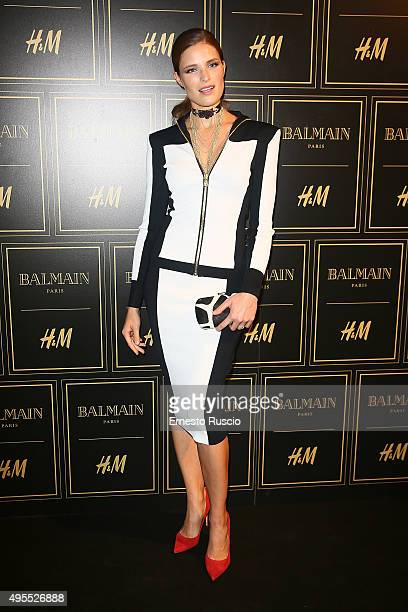 Alessia Piovan attends Balmain For H&M Collection Preview Photocall on November 3, 2015 in Rome, Italy.