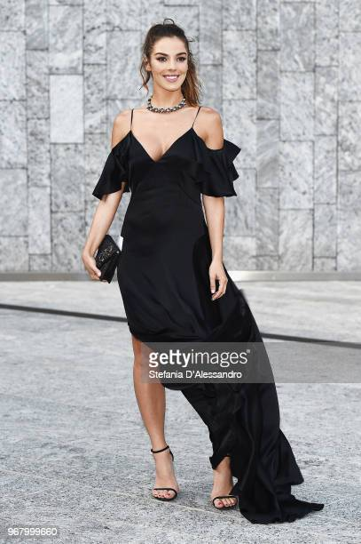 Alessia Reato arrives at Convivio 2018 on June 5 2018 in Milan Italy