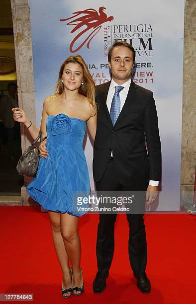 Alessia Rossi and Emanuele Rossi attend the Senso Gala Screening during the Perugia International Film Festival on October 1 2011 in Perugia Italy