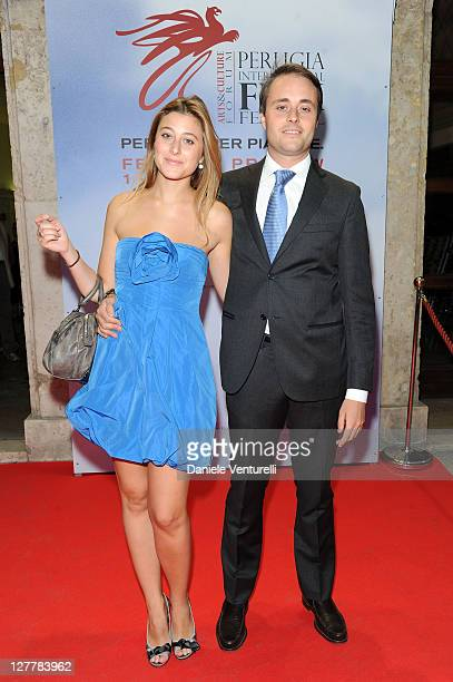 Alessia Rossi and Perugia International Film Festival President Emanuele Rossi attend the 'Senso' Gala Screening during the Perugia International...