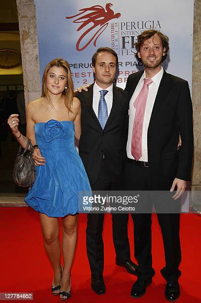 Alessia Rossi Emanuele Rossi and David Nugent attend the Senso Gala Screening during the Perugia International Film Festival on October 1 2011 in...