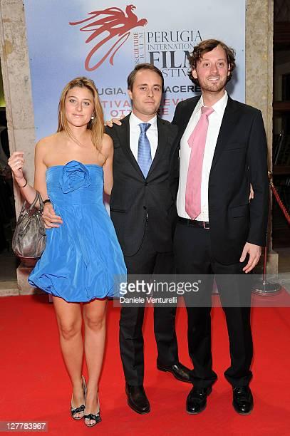 Alessia Rossi Perugia International and David Nugent Film Festival President Emanuele Rossi attend the 'Senso' Gala Screening during the Perugia...