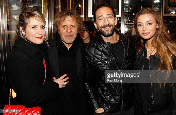 Alessia Rosso President of OTB Group Renzo Rosso Lara Leito and Adrien Brody attend the after party celebrating DIESEL's Madison Avenue flagship on...