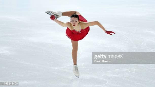 Alessia Tornaghi of Italy competes in Women Single Skating Free Skating in Figure Skating during day 4 of the Lausanne 2020 Winter Youth Olympics at...