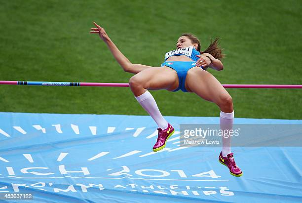 Alessia Trost of Italy competes in the Women's High Jump qualification during day four of the 22nd European Athletics Championships at Stadium...