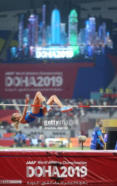 Alessia Trost of Italy competes in the Women's high jump within the 17th edition of the IAAF World Athletics Championships at Khalifa International...