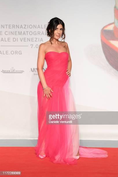 "Alessia Vanzetto walks the red carpet ahead of the ""Chiara Ferragni - Unposted"" screening during the 76th Venice Film Festival at Sala Giardino on..."