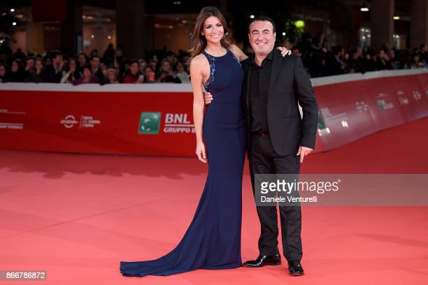 Alessia Ventura and a guest walk a red carpet for 'Hostiles' during the 12th Rome Film Fest at Auditorium Parco Della Musica on October 26 2017 in...