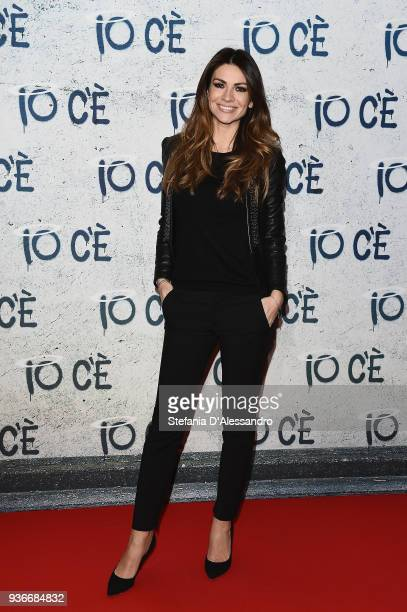 Alessia Ventura attends a photocall for 'Io C'e' on March 22 2018 in Milan Italy